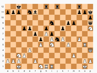 Double Chess - Position after 58.Nxg1
