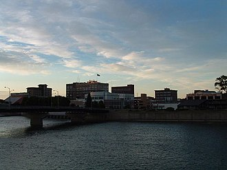 Waterloo, Iowa - East side of Downtown Waterloo, from the west bank of the Cedar River
