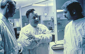 R Adams Cowley - Dr. R Adams Cowley instructs his team in the Critical Care Resuscitation Unit (CCRU)