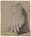 Drawing, Left Foot From a Plaster, 1840 (CH 18566491).jpg