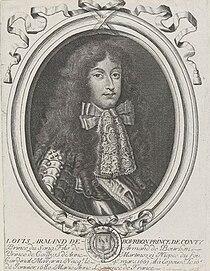Drawn portrait of Louis Armand de Bourbon, Prince of Conti by an unknown artist.jpg