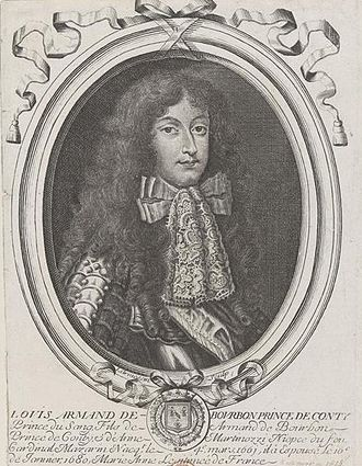 Louis Armand I, Prince of Conti - Image: Drawn portrait of Louis Armand de Bourbon, Prince of Conti by an unknown artist