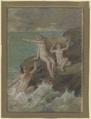 Drei nackte Frauen auf einem Felsen (SM 16560z).png