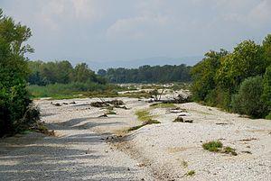 Leitha - Dried-up streambed of Leitha near Bad Erlach