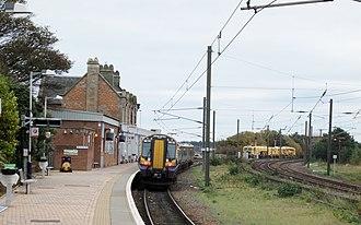 Dunbar railway station - Dunbar in 2017 looking south