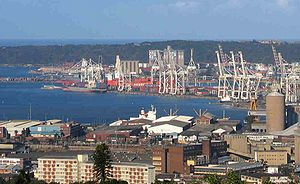 English: Habour of Durban Deutsch: Der Hafen v...