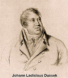 Johann Ladislaus Dussek, um 1810. (Quelle: Wikimedia)