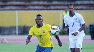 Jerry Bengtson - Bengston playing for Honduras against Ecuador, 8 September 2015