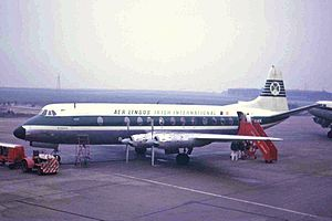 Aer Lingus Flight 712 - A Vickers Viscount of Aer Lingus, similar to the accident aircraft (1966)