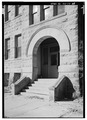 EXTERIOR, EAST SIDE ENTRANCE - Union County Courthouse, Courthouse Square, Elk Point, Union County, SD HABS SD,64-ELPO,1-16.tif
