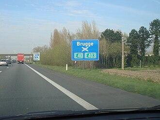 European route E40 - Image: Echangeur Bruges