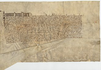 Vytautas - Privilege to Vilnius Cathedral issued by Vytautas in Vilnius on February 16, 1410