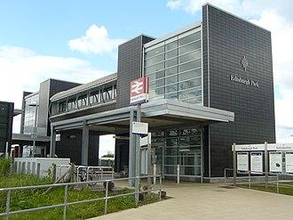 Edinburgh Park railway station - Entrance to Edinburgh Park railway station