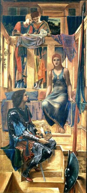 King Cophetua and the Beggar Maid (painting) - Image: Edward Burne Jones King Cophetua and the Beggar Maid 1883 cartoon