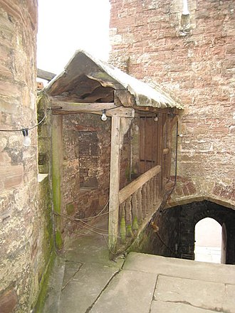 Berkeley Castle - Covered walkway leading to Edward II's supposed cell within the castle