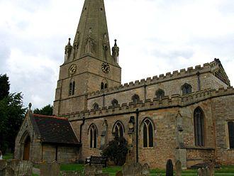Edwinstowe - St. Mary's Church, Edwinstowe, England. (Alleged site of the wedding of Robin Hood and Maid Marian)