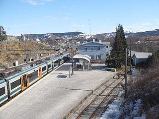 railway station in Eigersund, Norway