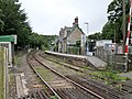 Eggesford railway station platforms and buildings, Tarka Line, South Devon - view towards Barnstaple.jpg