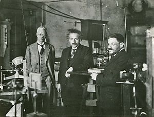Pieter Zeeman - Einstein visiting Pieter Zeeman in Amsterdam, with his friend Ehrenfest (circa 1920).