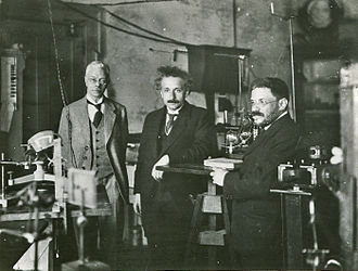Pieter Zeeman - Einstein visiting Pieter Zeeman in Amsterdam, with his friend Ehrenfest (circa 1920).