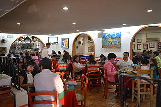 El Bajío (restaurant) - Main dining room at Azcapotzalco
