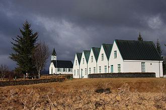 "Prime Minister of Iceland - Image: El Antiguo Parlamento Parque Nacional de "" Thingvellir "" Islandia (8621781601)"