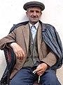Elderly Man at Rest - Village of Xinaliq - Caucasus Mountains - Azerbaijan (17894618689).jpg
