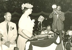 1940 Democratic National Convention - First Lady Eleanor Roosevelt speaking on the final day of the convention