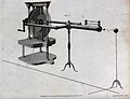 Electricity; J. Cuthbertson's electro-static generator. Engr Wellcome V0025395.jpg