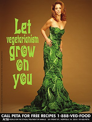 Elizabeth Berkley - Berkley in an advertisement for PETA
