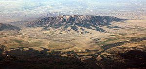 Aerial photo of Elk Mountain, looking northeast