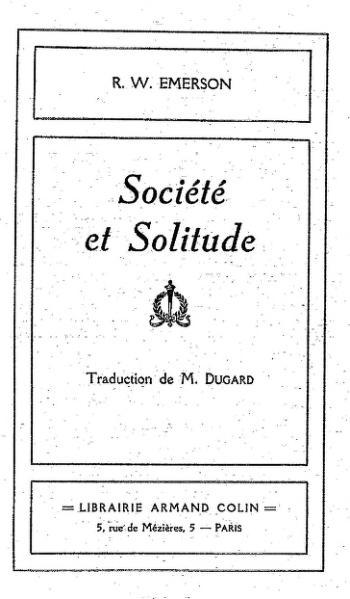 File:Emerson - Société et solitude, trad. Dugard.djvu