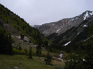 Hinsdale County, Colorado - Bonanza-Empire Chief mine and mill, on the Alpine Loop. The mill ruins were stabilized in 2000 by the Bureau of Land Management and Hinsdale County Historical Society. In 2007–2008, the mill ruins were demolished by an avalanche.