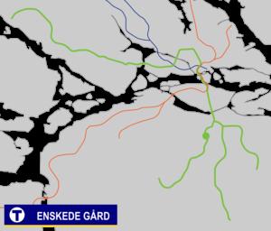 Enskede gård metro station - Image: Enskede gård Tunnelbana