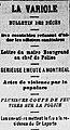 Entrefilet du 29 septembre 1885 dans le journal Le Canadien.jpg