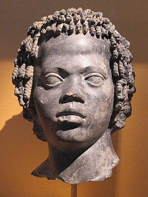Nubians - Image: Epoca tolemaica, stata d'uomo con fascetta e capelli ricci, 120 100 ac ca
