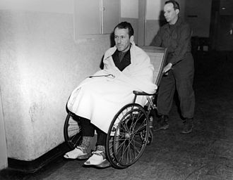 Ernst Kaltenbrunner - Kaltenbrunner wheeled into court during the Nuremberg trials after a brain haemorrhage during interrogation.