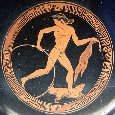 An athletic Greek youth runs with a hoop (c. 470 BC) - History of Running