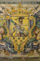 Escut al sòcol ceràmic de l'església de sant Sebastià, València.JPG
