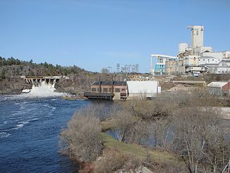 Spanish River und Domtar Mill in Espanola