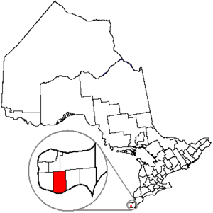 Essex, Ontario - Image: Essex Ont Location