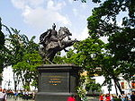 Mounted statue of Simón Bolívar in Plaza Bolívar, Caracas