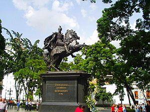 Adamo Tadolini -  Statue of Bolivar in Plaza Bolívar, Caracas by Adamo Tadolini