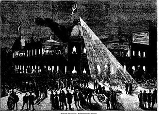 National Scala - The opening night, illustration from Illustreret Tidende