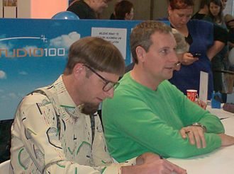 Gert Verhulst - Gert Verhulst and Walter Baele at the Book Fair 2009 in Antwerp