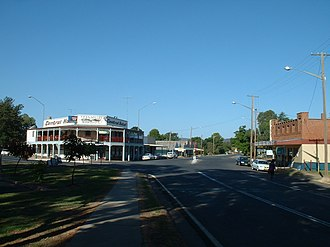 Eugowra - The main street of Eugowra