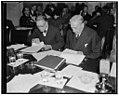 Examine first evidence offered to Monopoly Committee. Washington, D.C., Dec. 1. Senator William E. Borah, left, Republican of Idaho, and Senator William H. Kin, Democrat of Utah, study LCCN2016874468.jpg