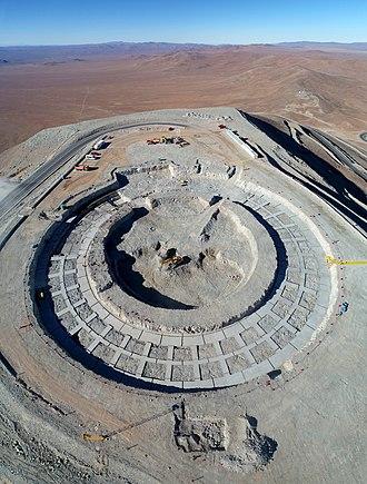 Extremely Large Telescope - ELT foundation work, October 2018.