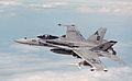 F-18C Hornet of VFA-86 in flight over the Persian Gulf in 1998.JPEG
