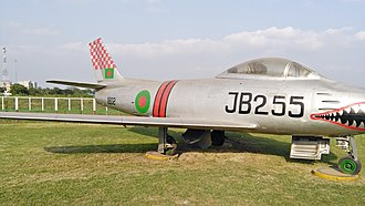 Bangladesh Air Force - A BAF F-86 Sabre in the BAF Museum